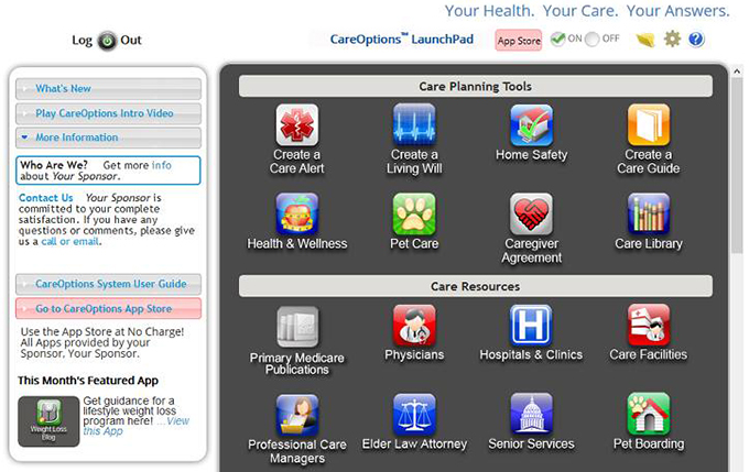 CareOptions Dashboard image